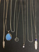 Various Silver Necklaces in 29 Palms, California