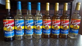 LOT of Torani Syrups, Assorted Flavors in Cherry Point, North Carolina