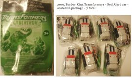 Transformer Burger King Toys in Fort Campbell, Kentucky