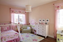 2 x Pottery Barn girls twin quilt bedding & curtains in Camp Lejeune, North Carolina