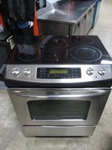 GE Slide-In Stainless Steel Electric Range Model#JSP46SP1SS in Naperville, Illinois