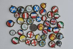 Charms for Bracelet Jewelry making crafting ~ European Europe Country Flags Bezel pendants in Grafenwoehr, GE