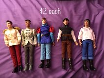 Disney prince dolls in Fort Meade, Maryland