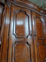 Burled Walnut Armoire TV Cabinet in Glendale Heights, Illinois