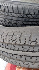 Set Of 2 Trailer tires and rims 14inch in Camp Lejeune, North Carolina
