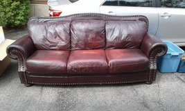 Leather Couch in Elgin, Illinois