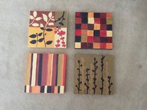 Crate and Barrel 4 piece Wall Decor in Glendale Heights, Illinois