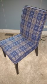 Blue Plaid Chair in Naperville, Illinois