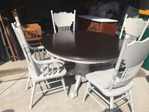 Solid Wood Pedestal Table and Chairs in Baytown, Texas