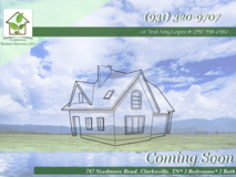 Coming Soon! Rent to Own-747 Needmore Road-Clarksville in Fort Campbell, Kentucky