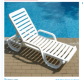 ISO White Chaise Lounge Chair in Bolingbrook, Illinois