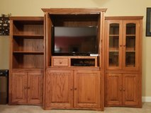 Entertainment center solid wood in Warner Robins, Georgia