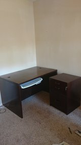 all wood computer desk and rolling filing cabinet in Alamogordo, New Mexico