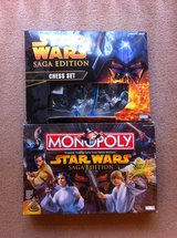 Star Wars Monopoly and Chess Set !!  Like New !! in Okinawa, Japan