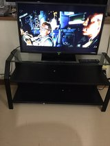 """Glass Top TV Stand & 32"""" LED HDMI TV in Okinawa, Japan"""