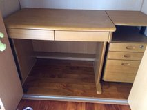 Japanese Kids Study Desk with 3 drawer side table in Okinawa, Japan