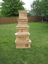 Cedar Patio Box Planter Veggies Herbs Deck Pots in Shorewood, Illinois