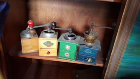 Old Coffee grinders from the 1950's in Hohenfels, Germany