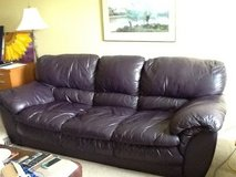 Leather couch/love seat in Naperville, Illinois