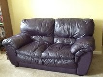Leather love seat/couch in Naperville, Illinois