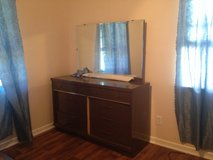 Warner Robins. Full bed frame with matching dresser w/mirror in Byron, Georgia