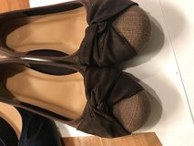 Brown almost flat comfy shoes in Okinawa, Japan