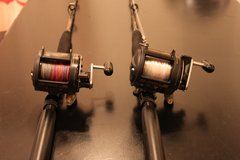 Light Trolling Gear: 2x Shimano TLD 25 Reel & Sea Striker, Bill Fisher tolling Rod in Okinawa, Japan