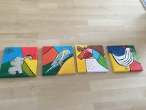 4 paintings for kidsroom in Stuttgart, GE