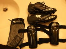 Kids soccer/baseball cleats with shin guards, size 1.5 in Bolling AFB, DC