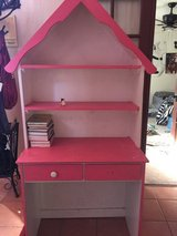 Girls twin dollhouse shelf bed and desk in Alamogordo, New Mexico