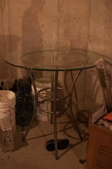 Glass Top Dining Room Table w/ 4 Chairs in Kansas City, Missouri