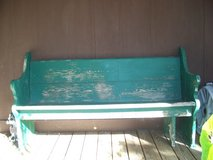 Old church bench in Cadiz, Kentucky