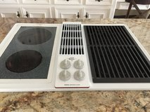 "Jenn-Air 30"" Electric Cooktop with Grill and Downdraft in Kingwood, Texas"