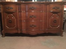 Dining Room - French Provincial china cabinet, buffet, table (pecan wood). 10 chairs. in Cleveland, Ohio
