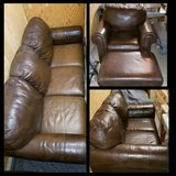 4 piece Ashley Furniture leather living room set in Sacramento, California