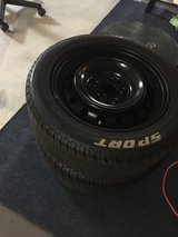 Set of 4 Tires with Rims in Fort Carson, Colorado