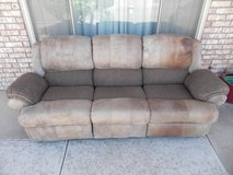 3 piece Leather Sofa, love seat, chair recliner set in Alamogordo, New Mexico