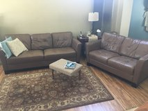 Leather couches & chair in Morris, Illinois
