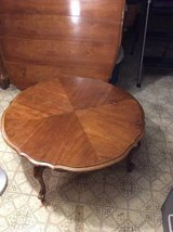 Coffee table (round) & 2 end tables - pecan French Provincial in Cleveland, Ohio