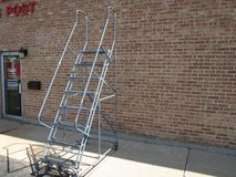 Cotterman 8 step rolling ladder, industrial/commercial use in Bartlett, Illinois