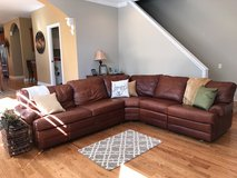 Leather Sectional Couch - Walter E Smith in Lockport, Illinois
