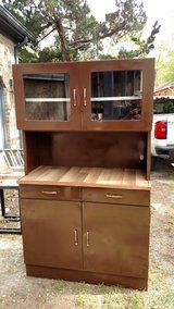 Vintage Metal Larder Cabinet from the 1950/60's in Camp Lejeune, North Carolina