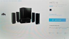 MINT CONDITION HARMON KARDON HKTS 16 - 5.1 HOME THEATER SYSTEM - $300 in Fort Bliss, Texas