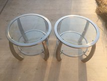 Glass end tables in 29 Palms, California