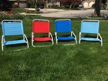 4 low canvas chairs/ beach chairs in Bartlett, Illinois