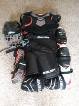 Hockey gear in Wheaton, Illinois