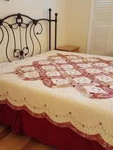 Queen Quilt, & Bed Skirt & Pillow Cases in Beaufort, South Carolina