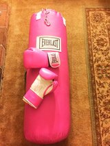 Heavy bag and gloves in Travis AFB, California