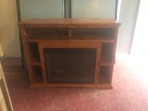 Large Entertainment TV Stand With Fireplace in Fort Polk, Louisiana