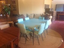 Vintage Aqua Kitchen Table and 6 Chair Set in Fort Polk, Louisiana